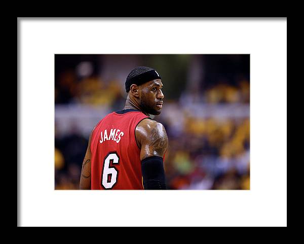 Playoffs Framed Print featuring the photograph Lebron James by Andy Lyons