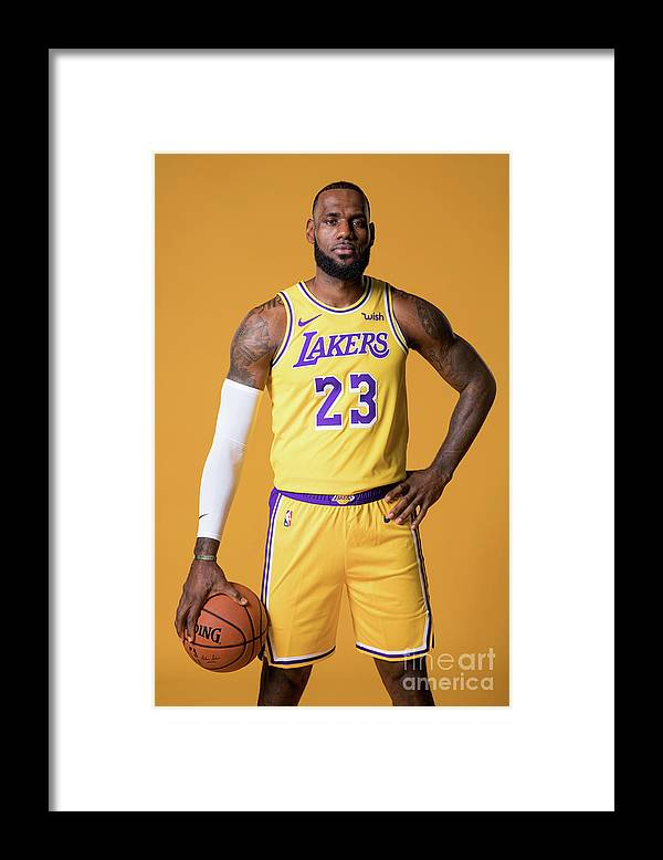 Media Day Framed Print featuring the photograph Lebron James by Atiba Jefferson