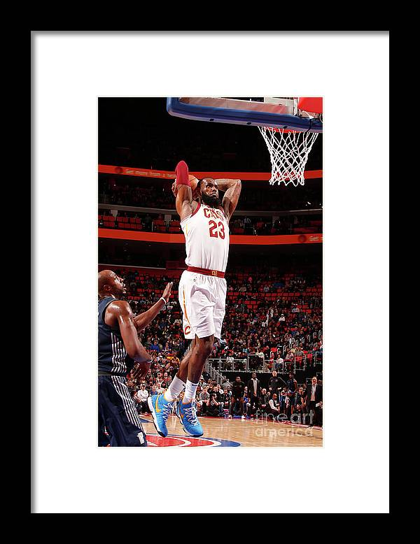 Nba Pro Basketball Framed Print featuring the photograph Lebron James by Brian Sevald