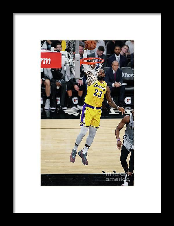 Nba Pro Basketball Framed Print featuring the photograph Lebron James by Darren Carroll