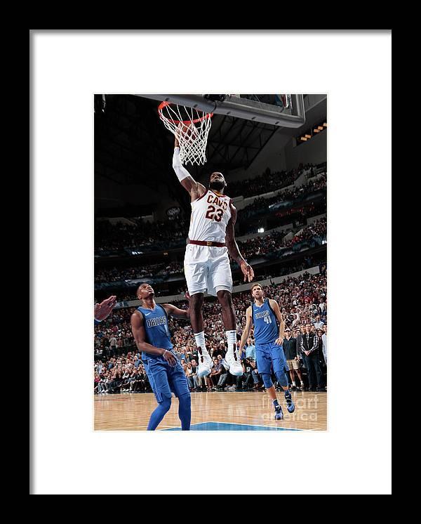 Nba Pro Basketball Framed Print featuring the photograph Lebron James by Glenn James