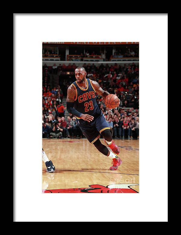 Nba Pro Basketball Framed Print featuring the photograph Lebron James by Jeff Haynes
