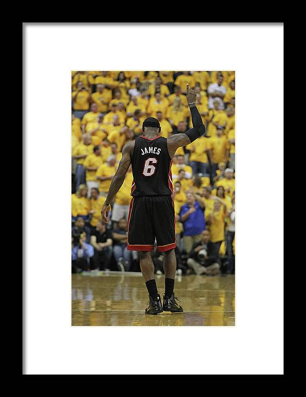 Playoffs Framed Print featuring the photograph Lebron James by Jonathan Daniel