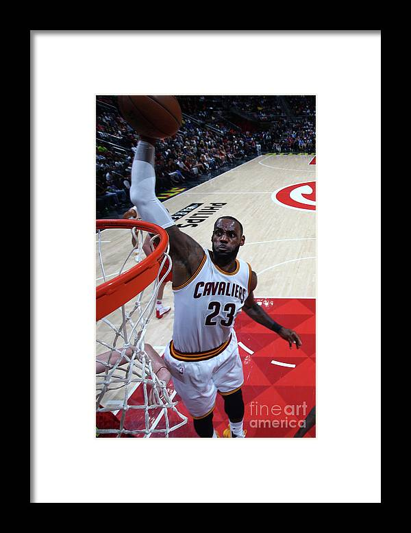 Atlanta Framed Print featuring the photograph Lebron James by Kevin Liles