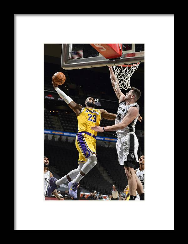 Nba Pro Basketball Framed Print featuring the photograph Lebron James by Logan Riely
