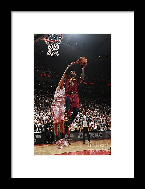 Playoffs Framed Print featuring the photograph Lebron James by Ron Turenne