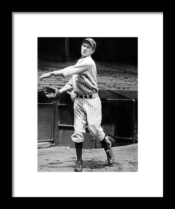 1930-1939 Framed Print featuring the photograph Lefty York by National Baseball Hall Of Fame Library