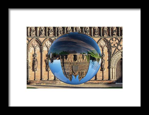 Lichfield Framed Print featuring the photograph Lens ball Lichfield by Steev Stamford