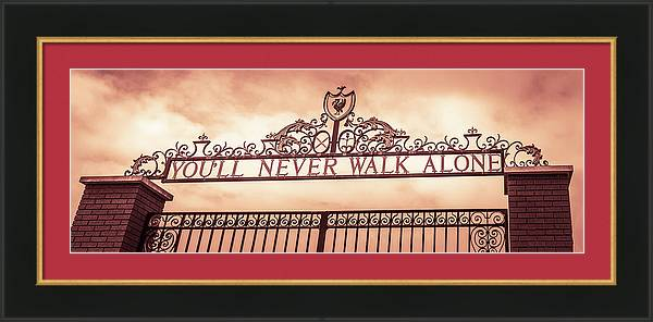 Letterbox crop of the Shankly Gates by Jason Wells
