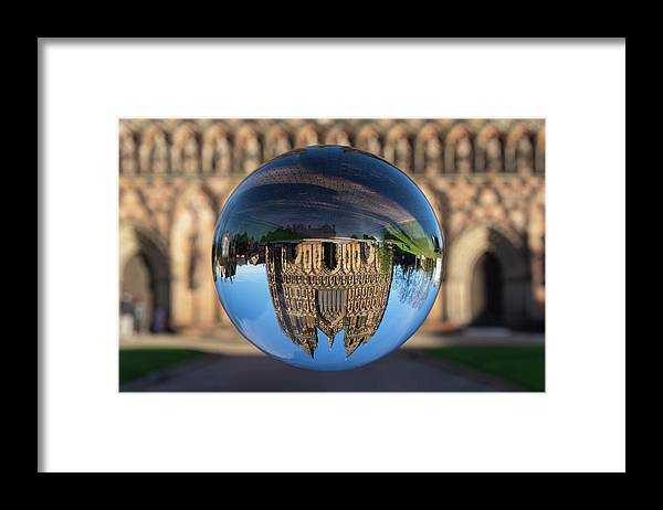 Lichfield Framed Print featuring the photograph Lichfield lens ball by Steev Stamford
