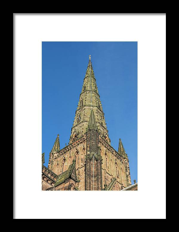 Lichfield Framed Print featuring the photograph Lichfield Spire by Steev Stamford