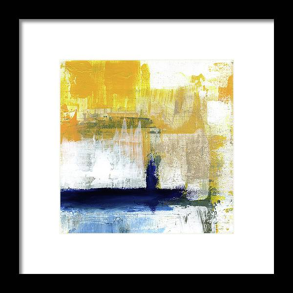 Abstract Framed Print featuring the painting Light Of Day 4 by Linda Woods