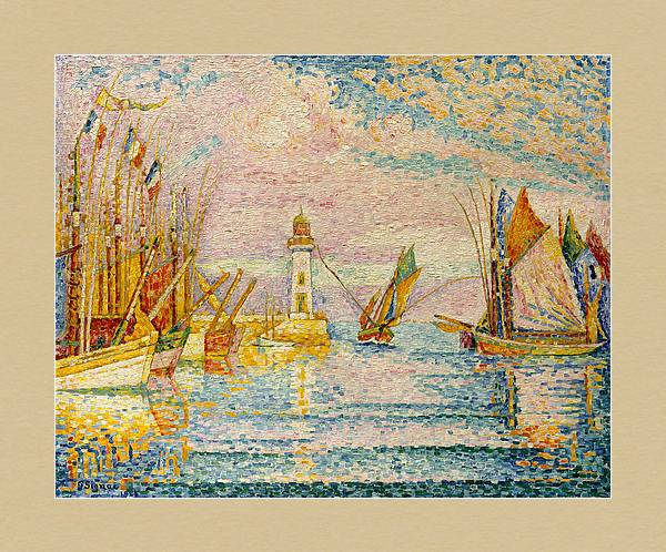 Lighthouse at Groix 1925 by Paul Signac by Art Anthology