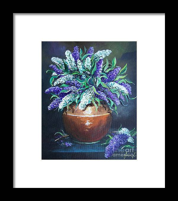 Original Painting Framed Print featuring the painting Lilac by Sinisa Saratlic