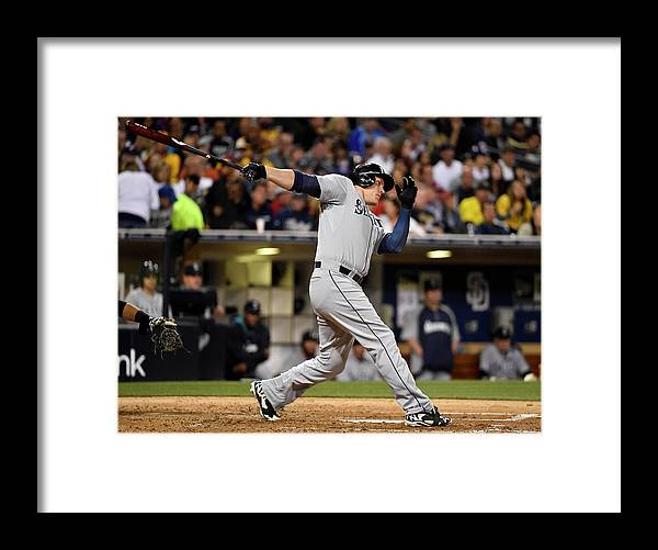 American League Baseball Framed Print featuring the photograph Logan Morrison by Denis Poroy