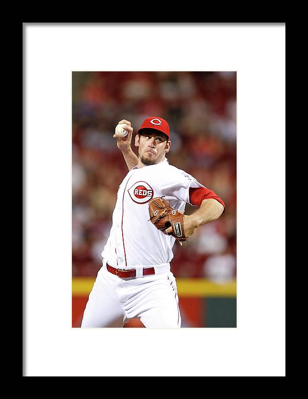 Great American Ball Park Framed Print featuring the photograph Logan Ondrusek by Joe Robbins