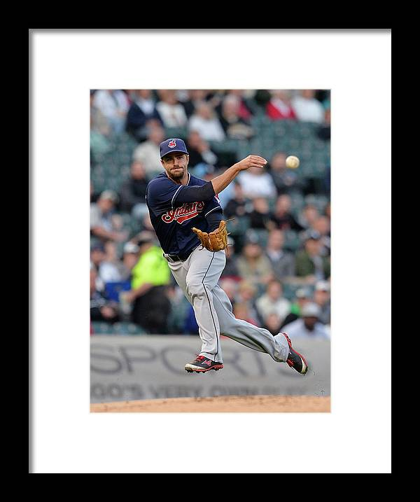 American League Baseball Framed Print featuring the photograph Lonnie Chisenhall and Gordon Beckham by Brian Kersey
