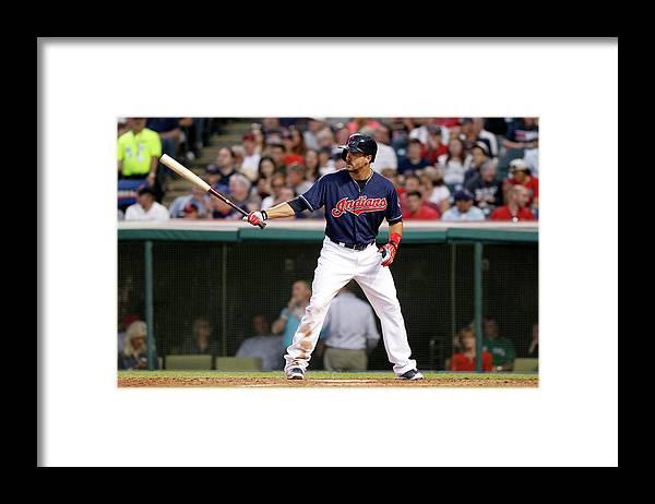 American League Baseball Framed Print featuring the photograph Lonnie Chisenhall by David Maxwell