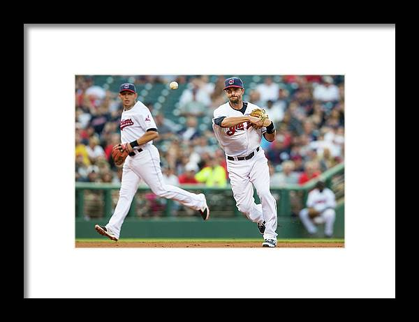 American League Baseball Framed Print featuring the photograph Lonnie Chisenhall by Jason Miller