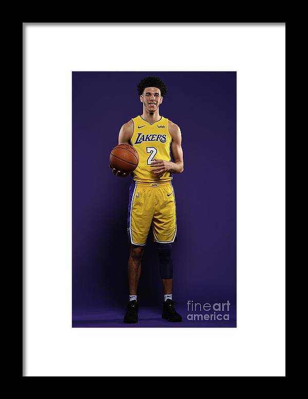 Media Day Framed Print featuring the photograph Lonzo Ball by Aaron Poole