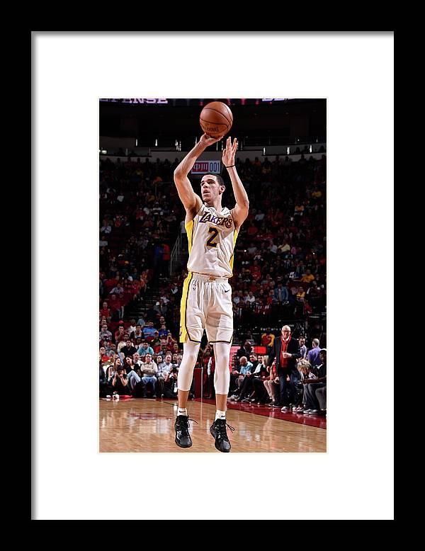 Nba Pro Basketball Framed Print featuring the photograph Lonzo Ball by Bill Baptist