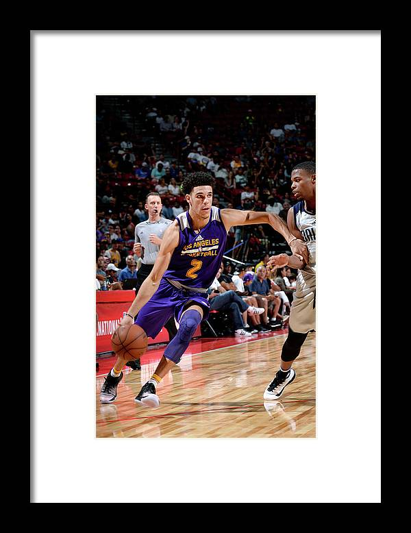 Nba Pro Basketball Framed Print featuring the photograph Lonzo Ball by David Dow