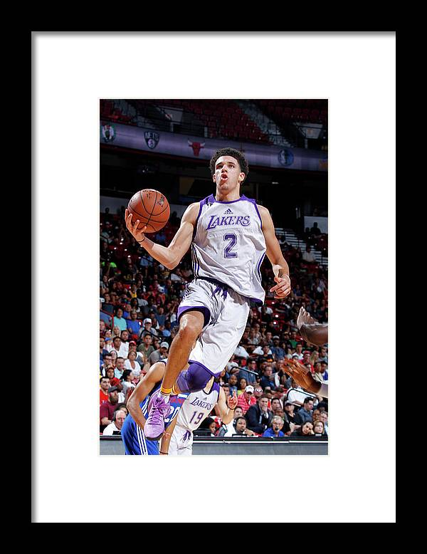Nba Pro Basketball Framed Print featuring the photograph Lonzo Ball by Jack Arent