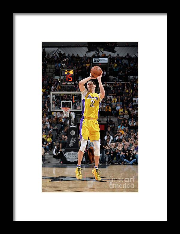 Nba Pro Basketball Framed Print featuring the photograph Lonzo Ball by Mark Sobhani