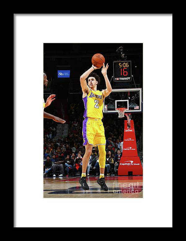 Nba Pro Basketball Framed Print featuring the photograph Lonzo Ball by Ned Dishman