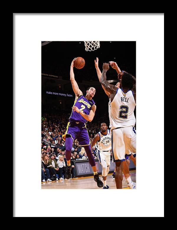 Nba Pro Basketball Framed Print featuring the photograph Lonzo Ball by Noah Graham