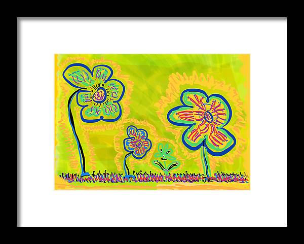 Spring Framed Print featuring the drawing Looking for Spring by Pam Roth O'Mara