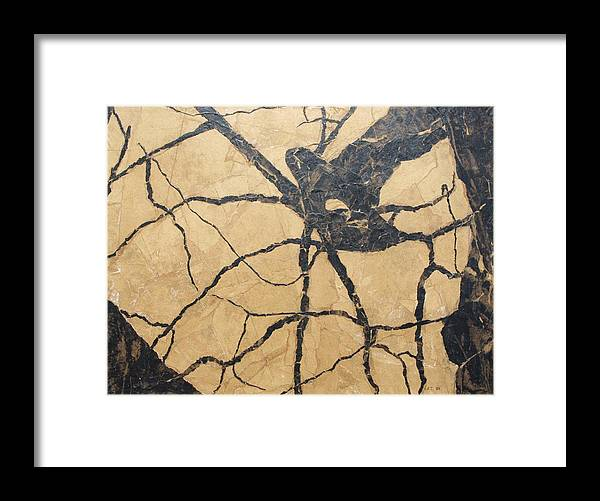 Abstract Framed Print featuring the painting Looking Up by Leah Tomaino