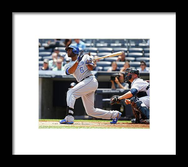 People Framed Print featuring the photograph Lorenzo Cain by Al Bello