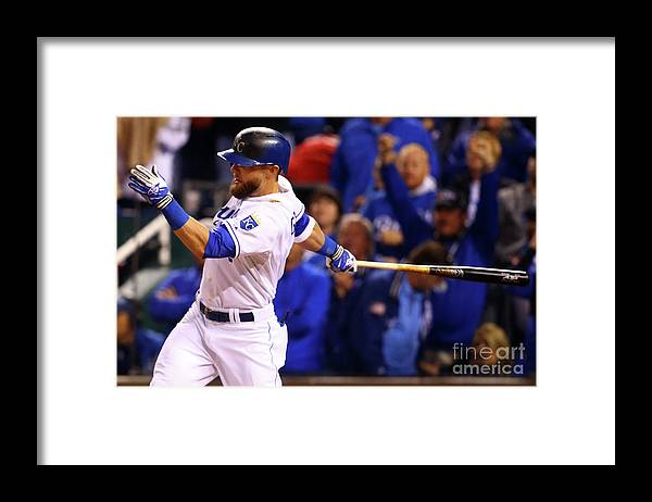 People Framed Print featuring the photograph Lorenzo Cain, Alex Gordon, and Wei-yin Chen by Dilip Vishwanat