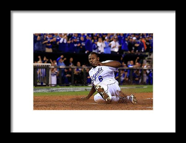 Game Two Framed Print featuring the photograph Lorenzo Cain and Billy Butler by Elsa
