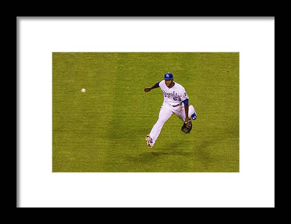 People Framed Print featuring the photograph Lorenzo Cain and Joey Gallo by Kyle Rivas