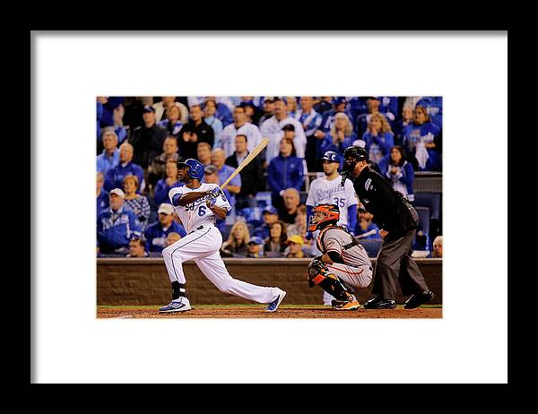 Second Inning Framed Print featuring the photograph Lorenzo Cain by Doug Pensinger