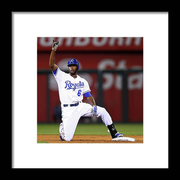 Game Two Framed Print featuring the photograph Lorenzo Cain by Elsa