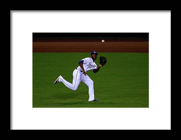 People Framed Print featuring the photograph Lorenzo Cain by Jamie Squire