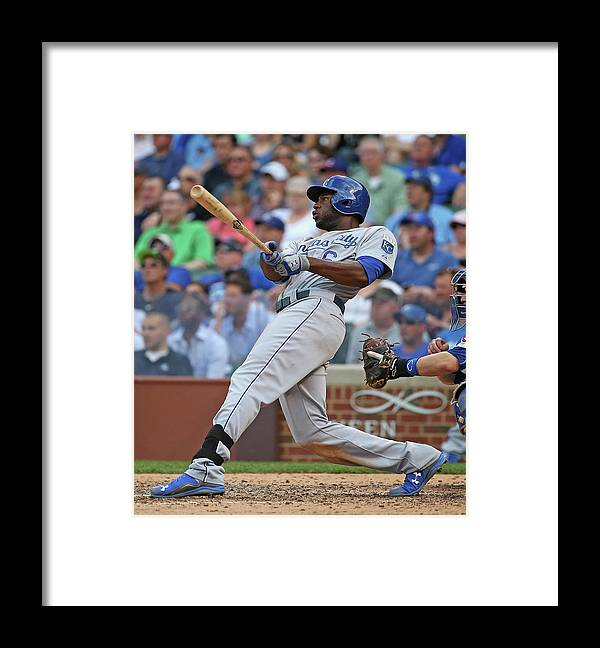 People Framed Print featuring the photograph Lorenzo Cain by Jonathan Daniel