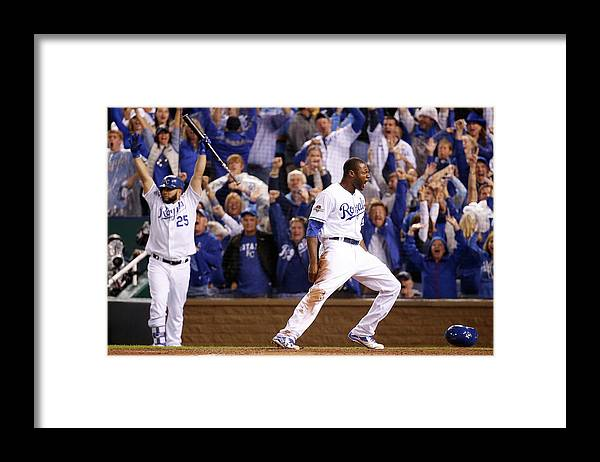 People Framed Print featuring the photograph Lorenzo Cain by Rob Carr