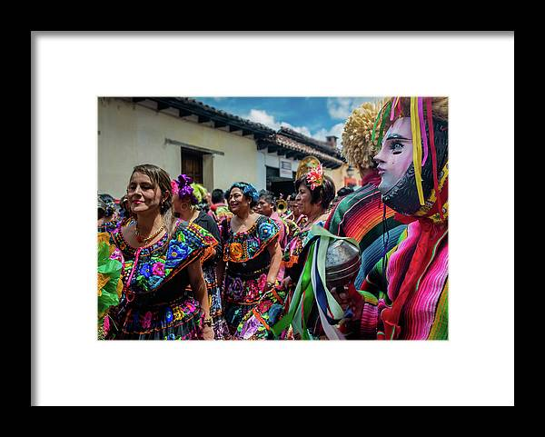 Mexico Framed Print featuring the photograph Los Parachicos by Dane Strom