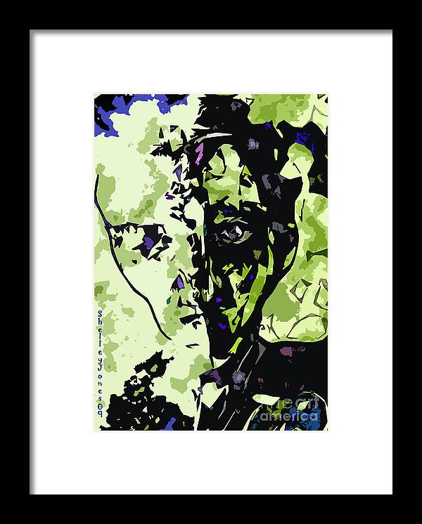Man Framed Print featuring the digital art Loss of identity by Shelley Jones