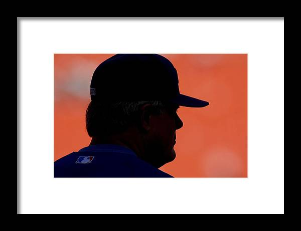 Hard Rock Stadium Framed Print featuring the photograph Lou Piniella by Ronald C. Modra/sports Imagery