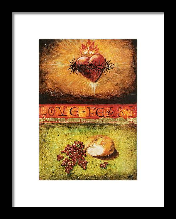 Love Feast Framed Print featuring the painting Love Feast by Teresa Carter
