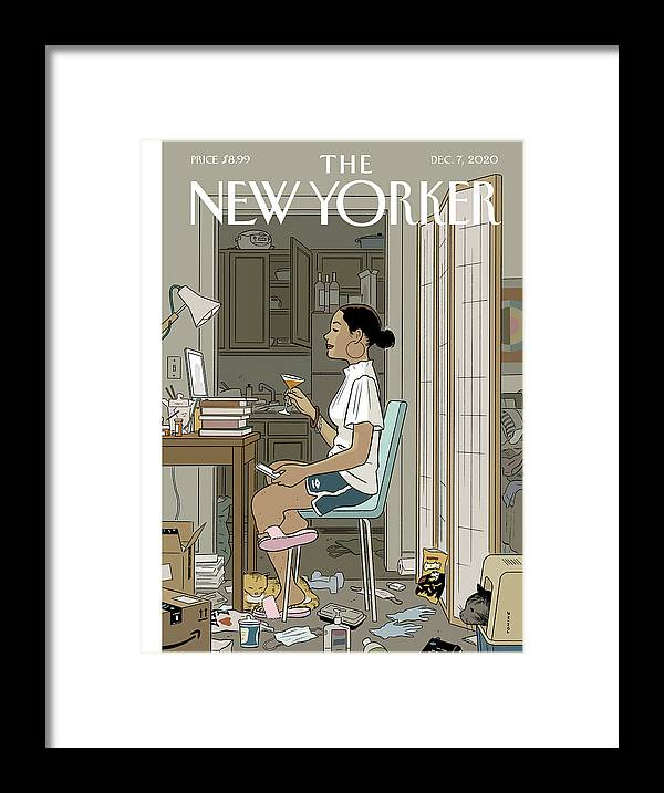 Pandemic Framed Print featuring the digital art Love Life by Adrian Tomine