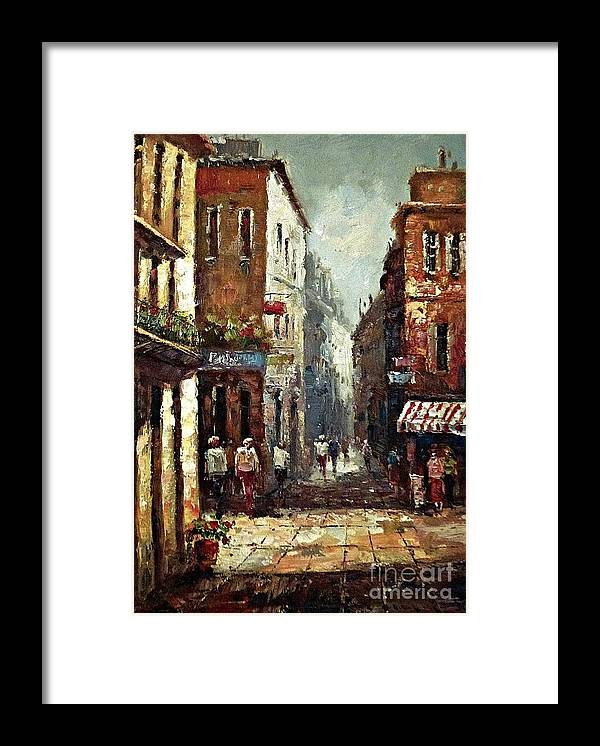 Old Town Framed Print featuring the painting Loving narrow streets by Amalia Suruceanu