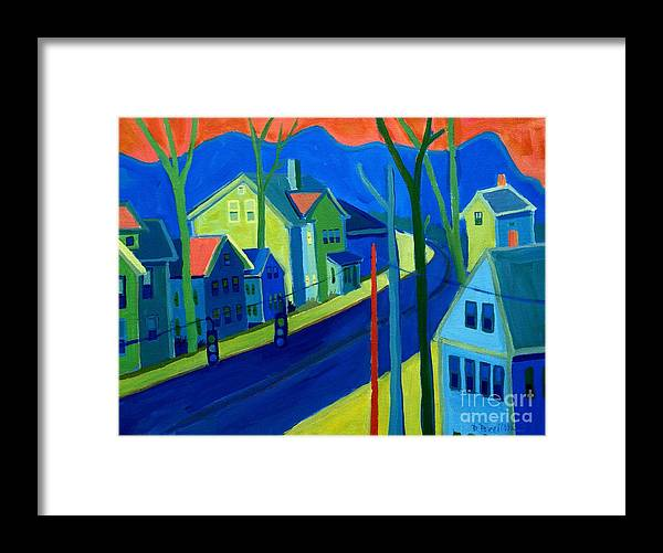Cityscape Framed Print featuring the painting Lowell Deluge by Debra Bretton Robinson