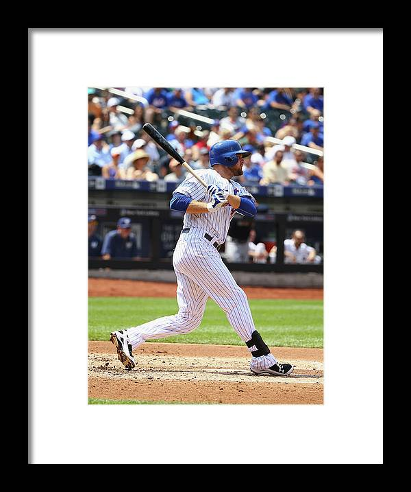 People Framed Print featuring the photograph Lucas Duda by Al Bello