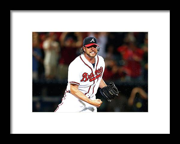 Atlanta Framed Print featuring the photograph Lucas Duda and Jason Grilli by Kevin C. Cox
